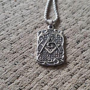 Freemasonry Vintage Stainless steel symbol pendant